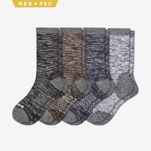 mixed-4 Men's Hiking Calf Sock 4-Pack