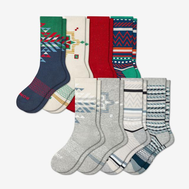 mixed-8 Men's Holiday Calf Sock 8-Pack