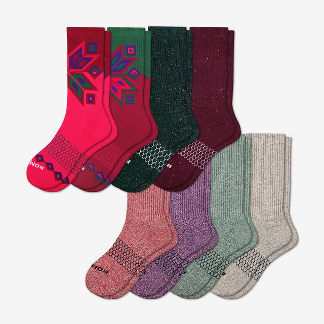 mixed-8 Women's Holiday Calf Sock 8-Pack