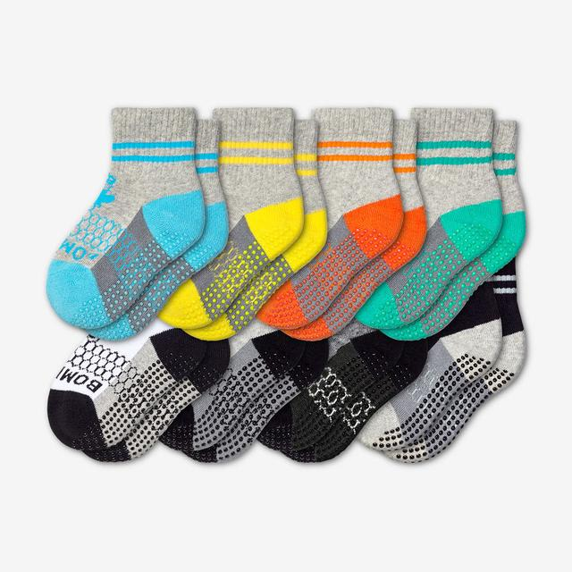 mixed-8 Toddler Gripper Calf Sock 8-Pack