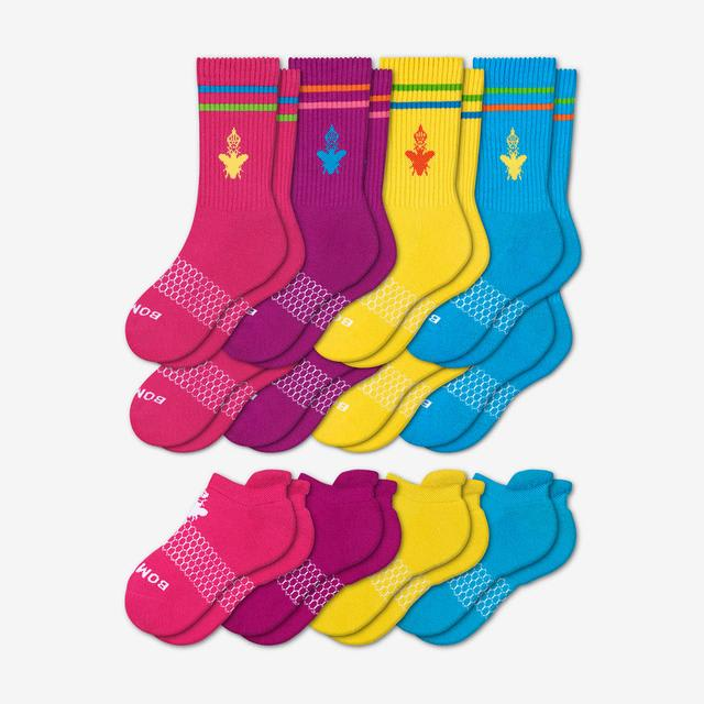 mixed-brights Youth Calf & Ankle 12-Pack