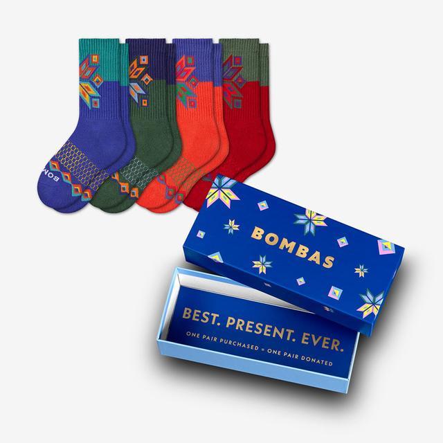 mixed Youth Snowflake Calf 4-Pack Gift Box