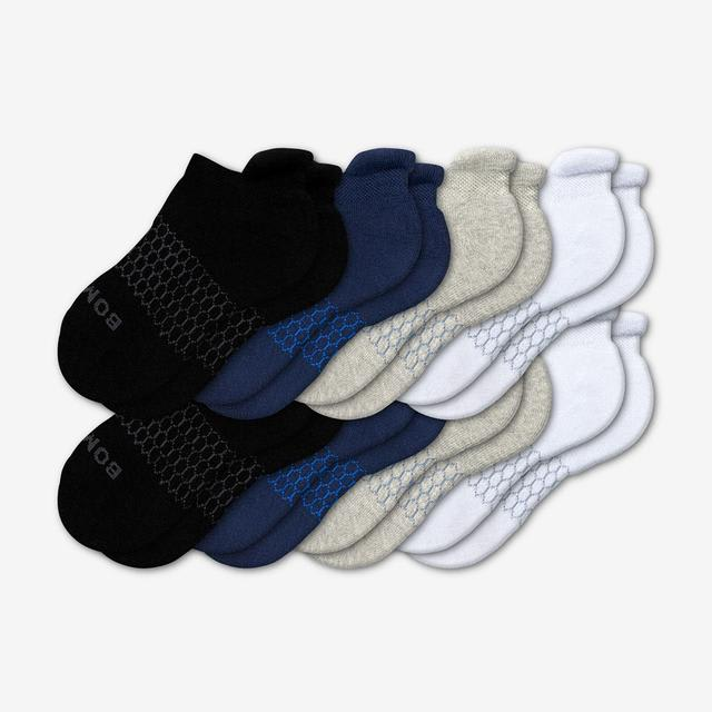 mixed Youth Solids Ankle Sock 8-Pack
