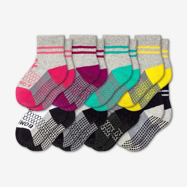 mixed Toddler Gripper Calf Sock 8-Pack