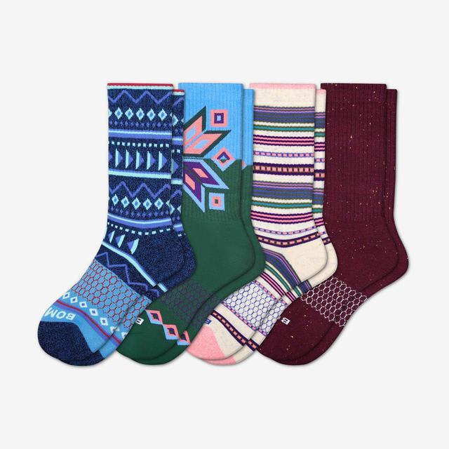 mixed Women's Holiday Calf Sock 4-Pack