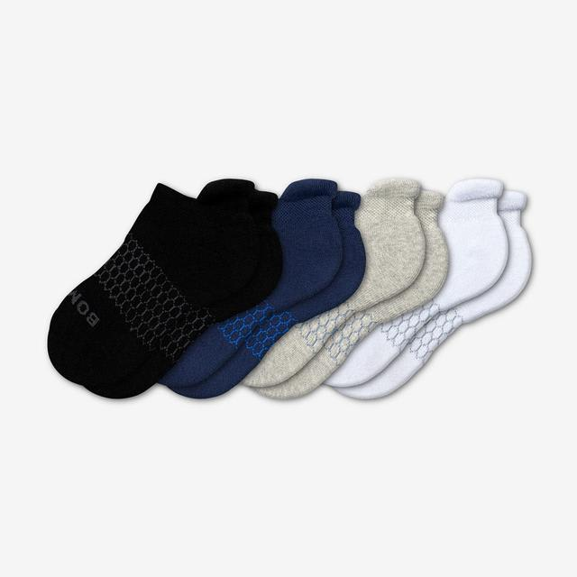 mixed Youth Solids Ankle Sock 4-Pack