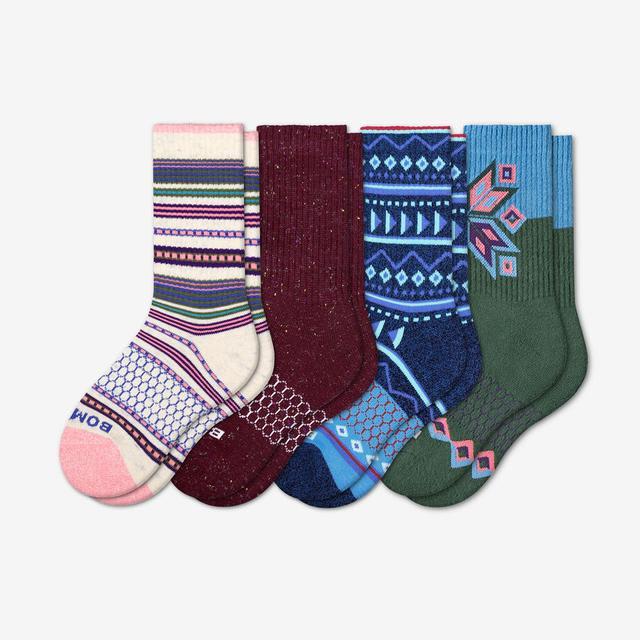 mixed Youth Holiday Calf Sock 4-Pack