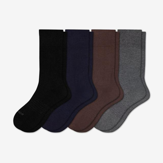 mixed Men's Dress Calf Sock 4-Pack