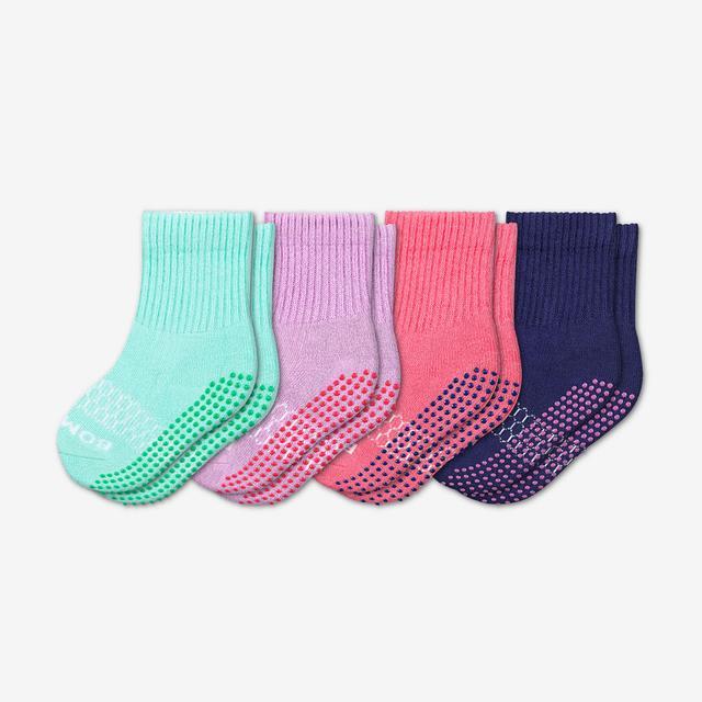 mixed Toddler Gripper Calf Sock 4-Pack