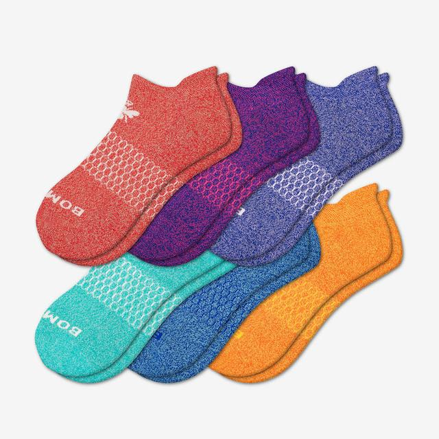 mixed Bright Marls Ankle Sock 6-Pack