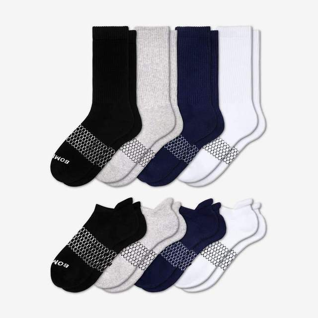 mixed Women's Calf & Ankle Sock 8-Pack