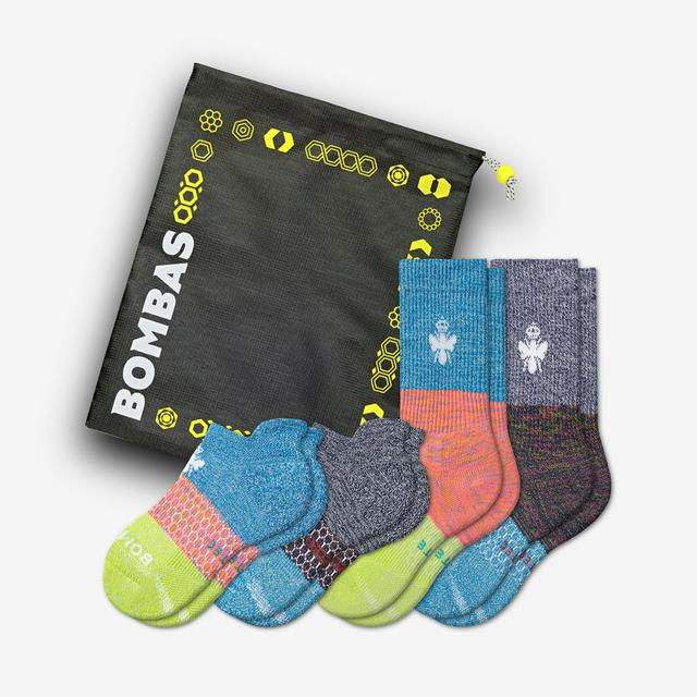 mixed Youth All-Purpose Performance Calf & Ankle Sock 4-Pack Gift Bag