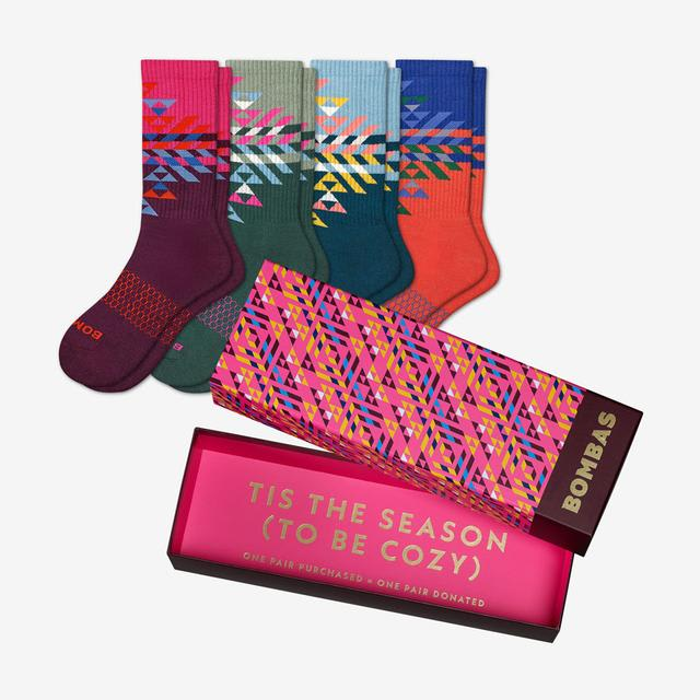 mixed Women's Snowflake Calf Sock Gift Box