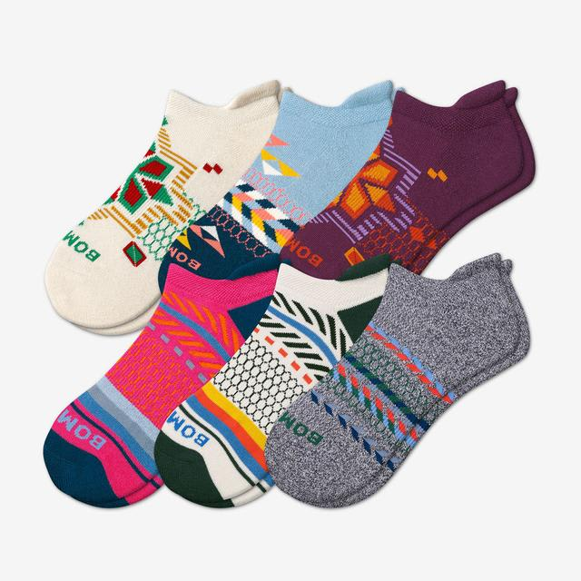 mixed Women's Holiday Ankle Sock 6-Pack