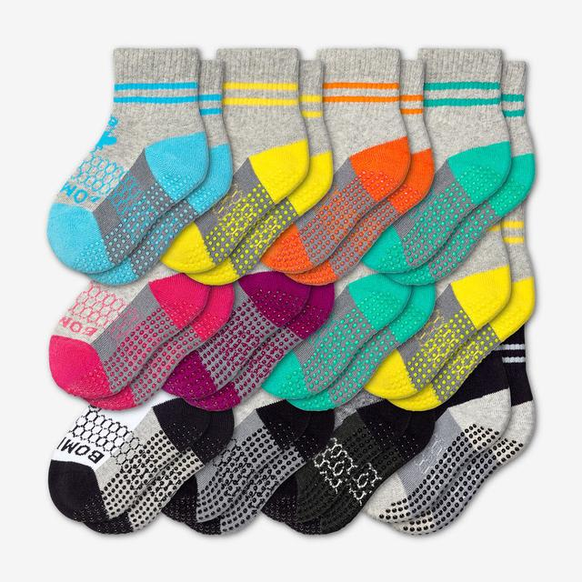 mixed Toddler Gripper Calf Sock 12-Pack