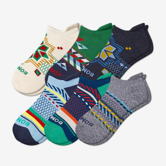 mixed Men's Holiday Ankle Sock 6-Pack
