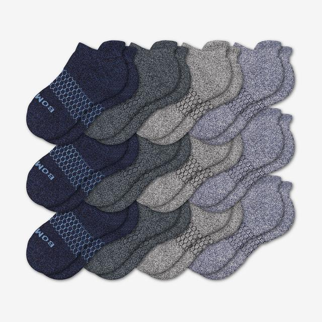 mixed-marls Youth Ankle Sock 12-Pack