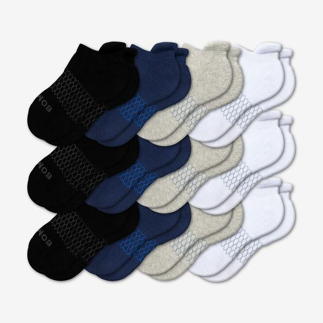 mixed-solids Youth Ankle Sock 12-Pack