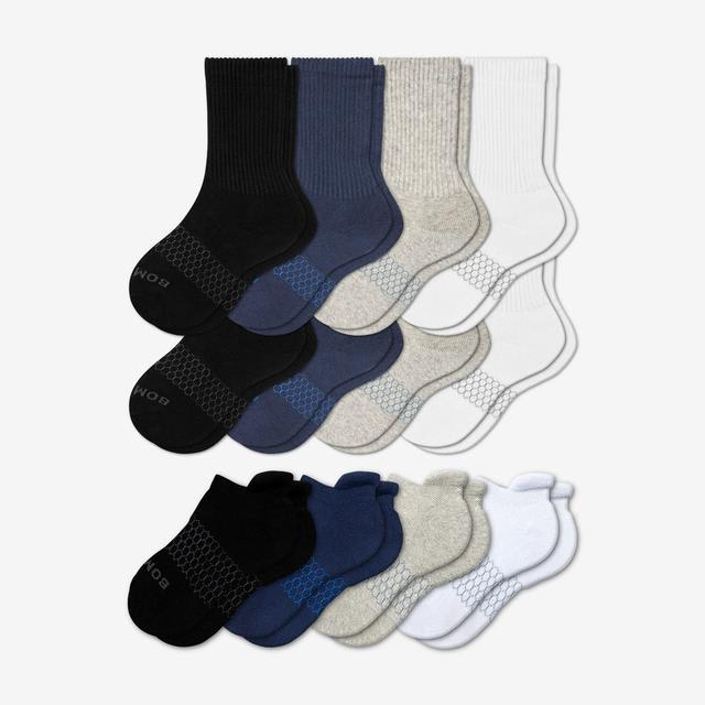 mixed-solids Youth Calf & Ankle 12-Pack