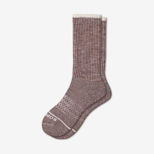 morning-joe Men's Merino Wool Calf Socks