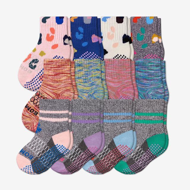 multi-12 Toddler Gripper Calf Sock 12-Pack