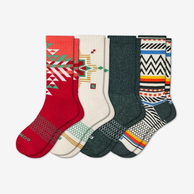 multi-4 Women's Holiday Calf Sock 4-Pack