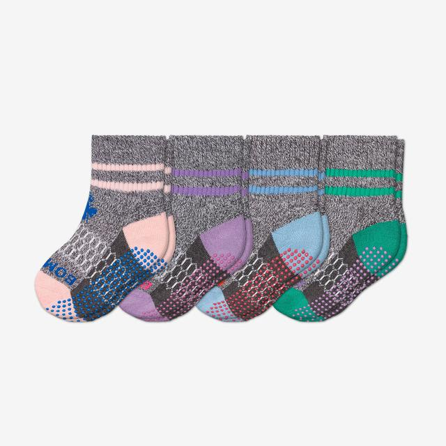 multi-4 Toddler Gripper Calf Sock 4-Pack