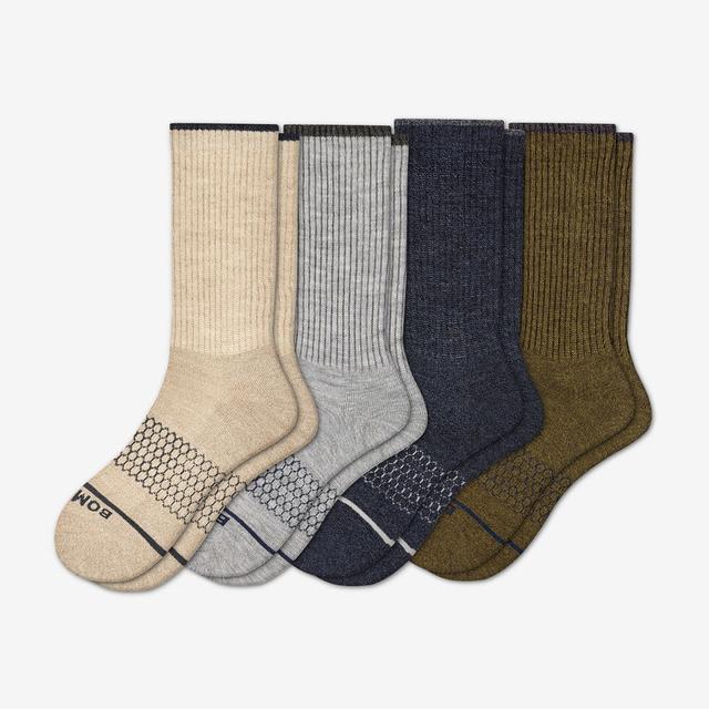 multi-4 Men's Merino Wool Calf Sock 4-Pack