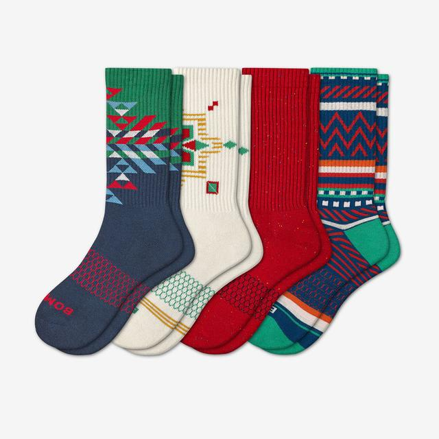 multi-4 Men's Holiday Calf Sock 4-Pack