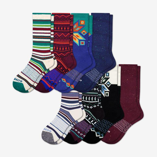 multi Men's Holiday Calf Sock 8-Pack