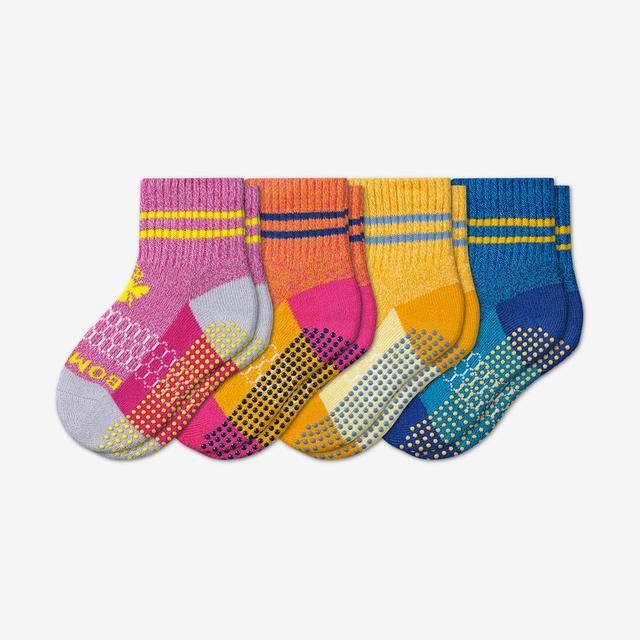 multi Toddler Originals Gripper Calf Sock 4-Pack