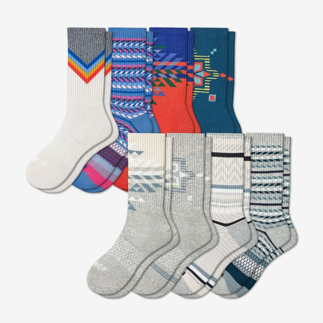 multi Women's Holiday Calf Sock 8-Pack