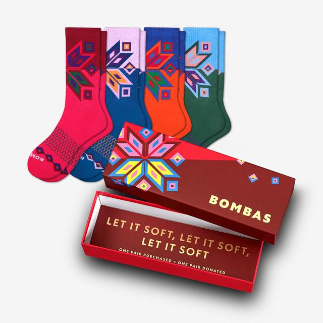 multi Women's Snowflake Calf Sock Gift Box
