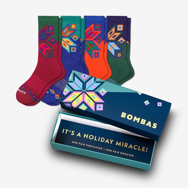 multi Men's Snowflake Calf Sock Gift Box