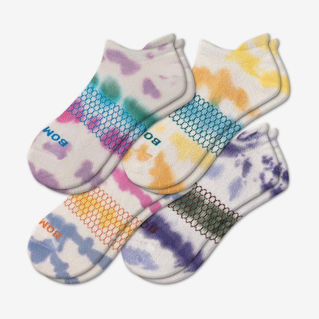 multi Women's Tie Dye Ankle Sock 4-Pack