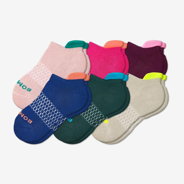 multi Youth Solid Neon Tipping Ankle Sock 6-Pack