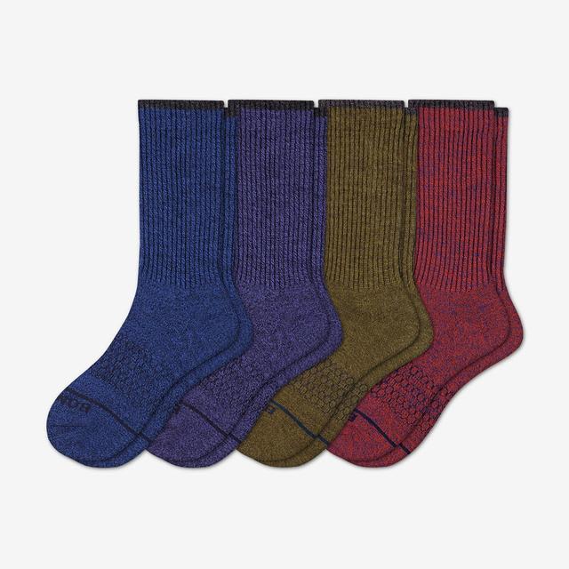 multi Men's Merino Wool Calf Sock 4-Pack