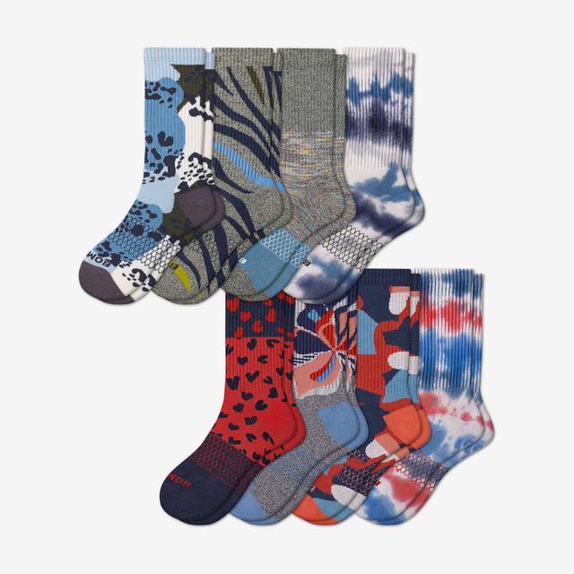 multi Men's Calf Sock 8-Pack