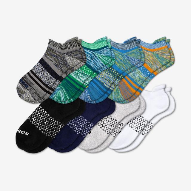 multi-stripe-8 Men's Solids Ankle 8-Pack