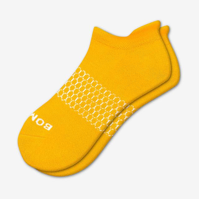 mustard Men's Solids Ankle Socks