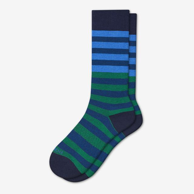 navy-colorblock Men's Dress Calf Sock