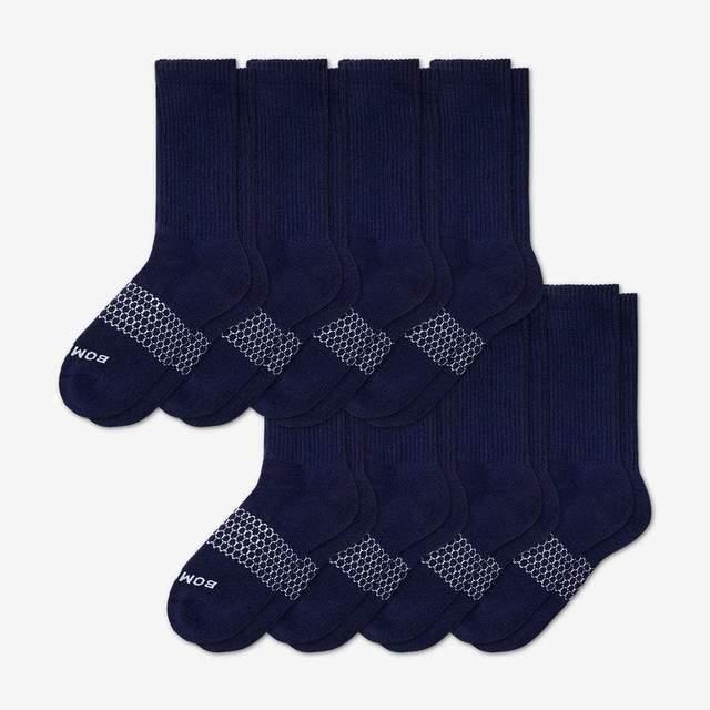 navy Men's Calf Sock 8-Pack