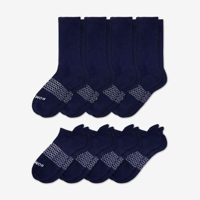 navy Women's Calf & Ankle Sock 8-Pack