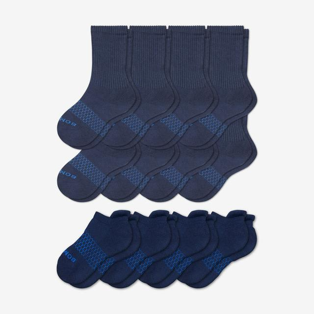 navy Youth Calf & Ankle 12-Pack