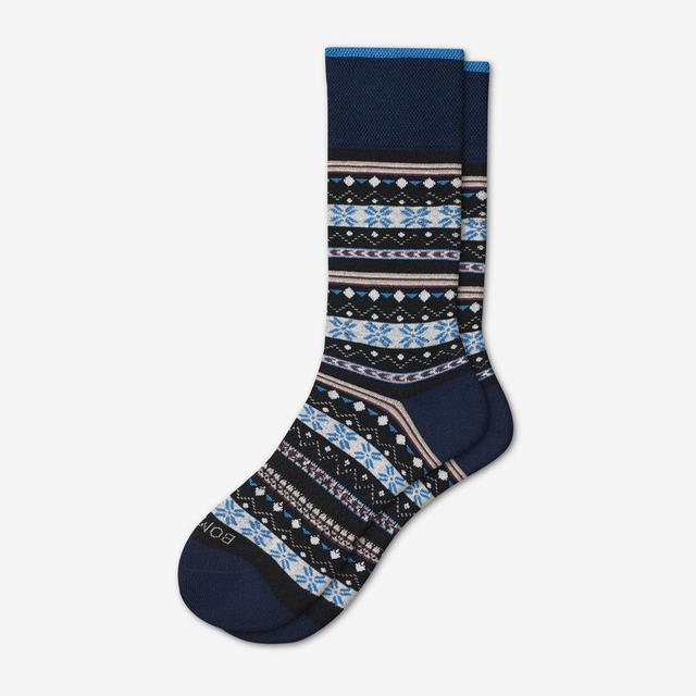 navy-multi Men's Dress Calf Sock