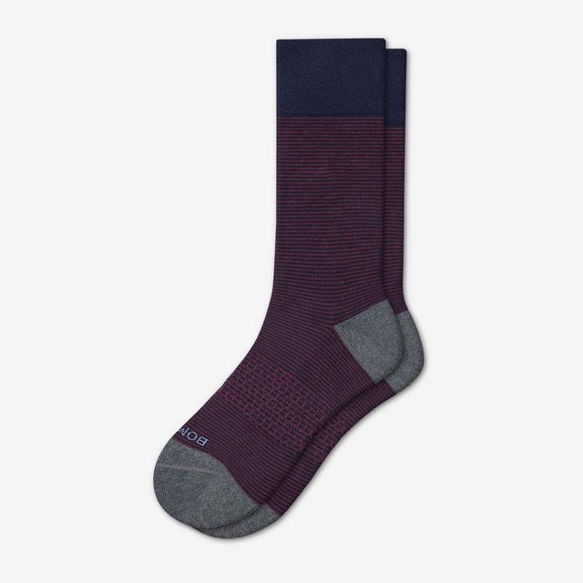 navy-stripe Men's Dress Calf Sock