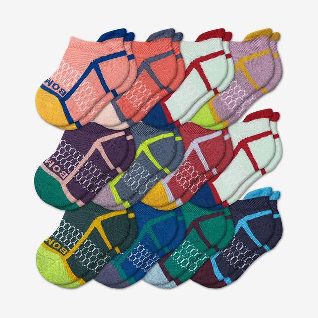 neon-mix Toddler Gripper Ankle Sock 12-Pack