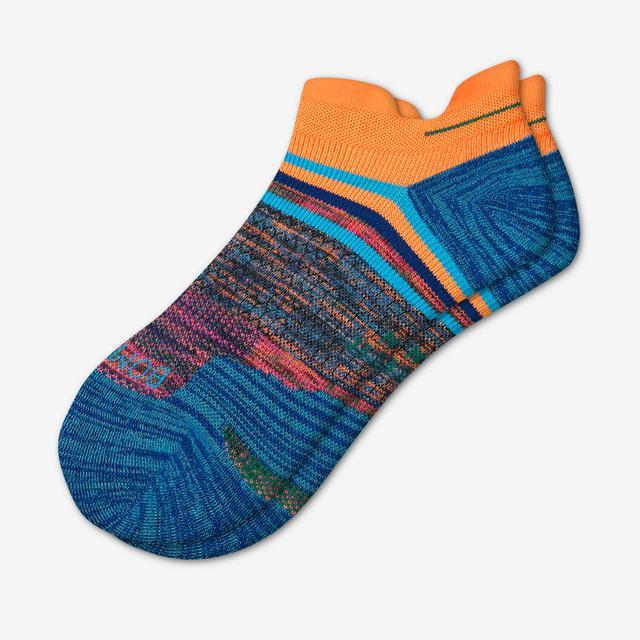 neon-orange Men's Performance Running Ankle Socks