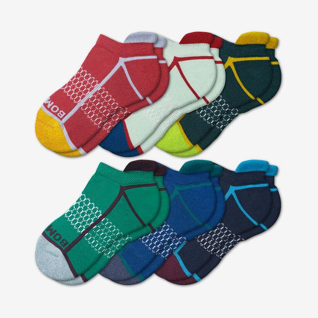 neon-seaweed Youth Solid Neon Tipping Ankle Sock 6-Pack