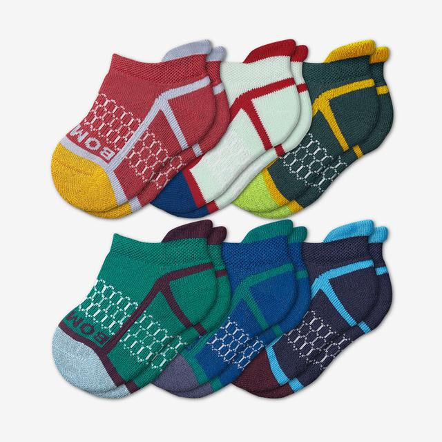 neon-seaweed Toddler Solid Neon Tipping Ankle Sock 6-Pack